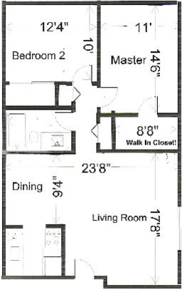 2 Bedrooms 2 Bathrooms Apartment for rent at Windbriar Apartments in Fitchburg, WI