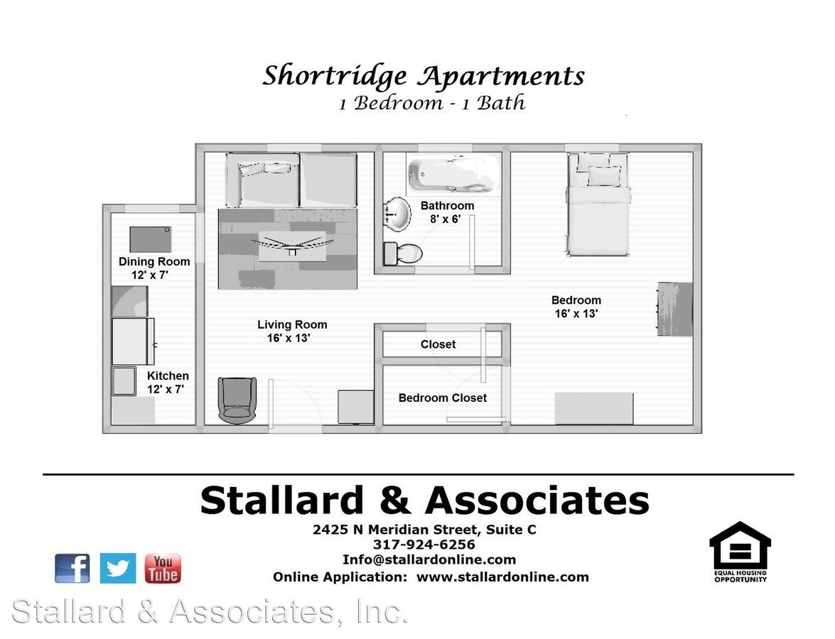 Studio 1 Bathroom Apartment for rent at 3601 N Meridian Street in Indianapolis, IN