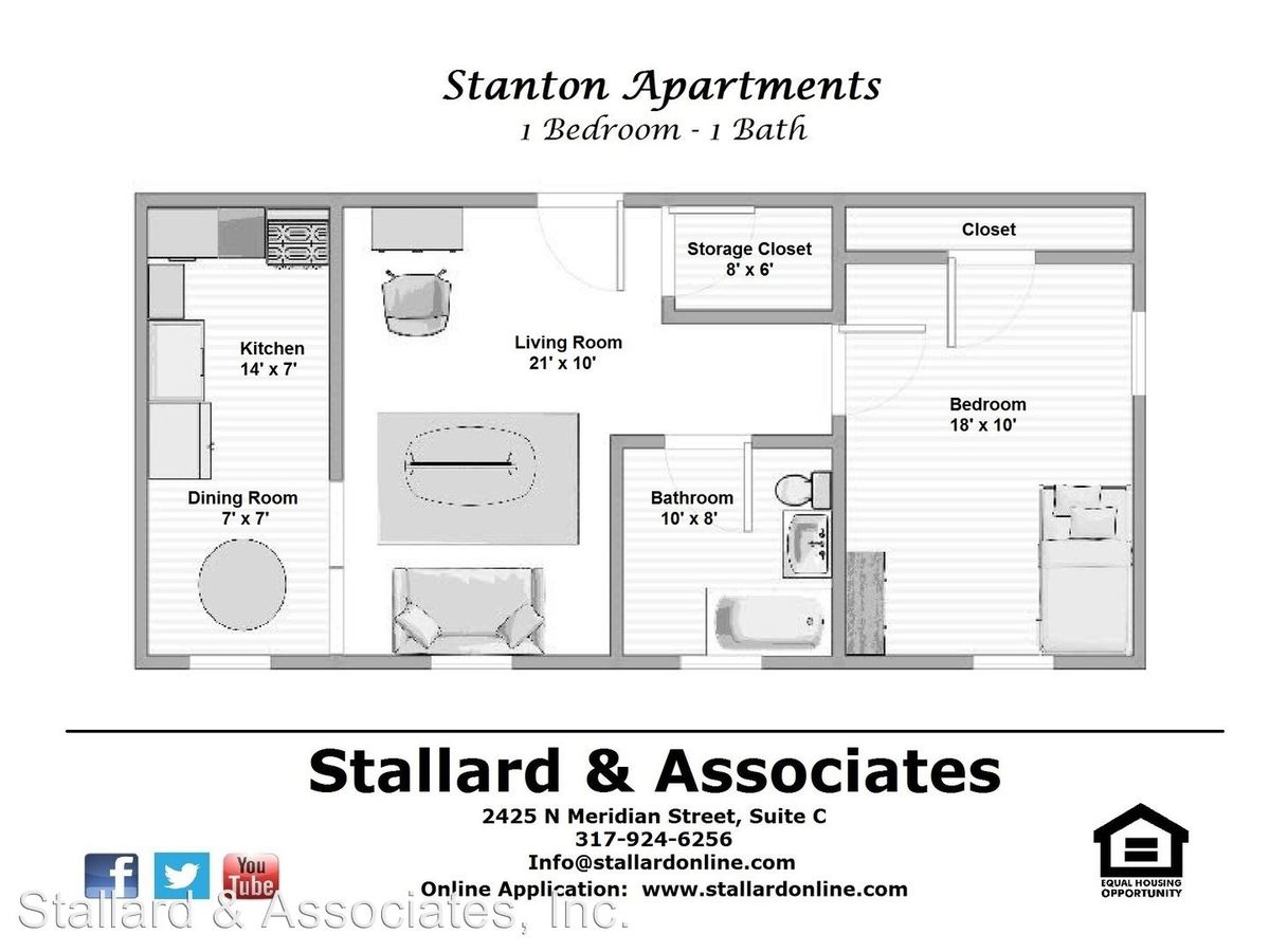 Studio 1 Bathroom Apartment for rent at 3536 N Meridian Street in Indianapolis, IN