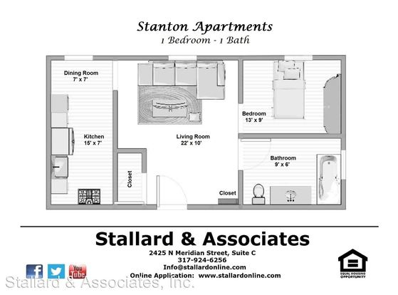1 Bedroom 1 Bathroom Apartment for rent at 3536 Associates, Llc. Stanton 3536 N. Meridian St in Indianapolis, IN