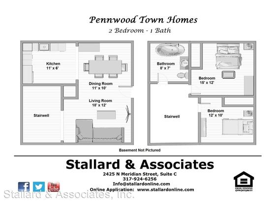 2 Bedrooms 1 Bathroom Apartment for rent at Pennwood Associates, Llc (201) 3540 N. Pennsylvania Street in Indianapolis, IN