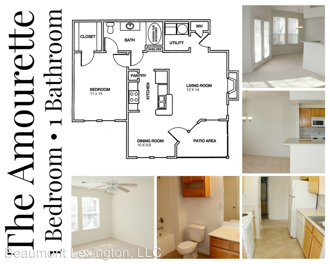 1 Bedroom 1 Bathroom Apartment for rent at 1101 Beaumont Centre Lane in Lexington, KY
