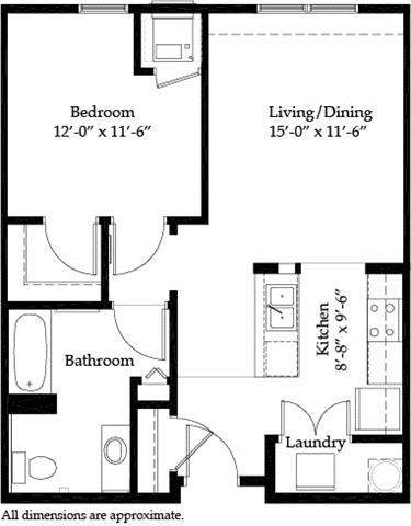 1 Bedroom 1 Bathroom Apartment for rent at Riverview At Upper Landing in St Paul, MN