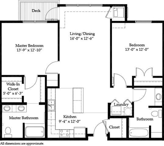2 Bedrooms 2 Bathrooms Apartment for rent at Riverview At Upper Landing in St Paul, MN