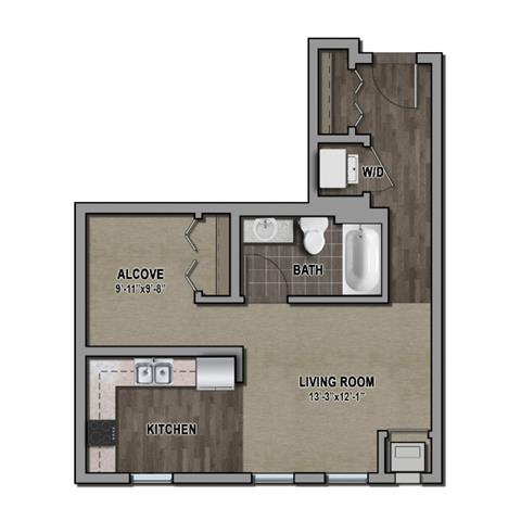 Studio 1 Bathroom Apartment for rent at One Southdale Place in Edina, MN
