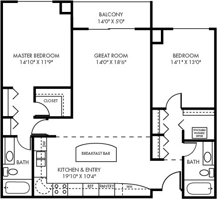 2 Bedrooms 2 Bathrooms Apartment for rent at The Plaza in St Paul, MN