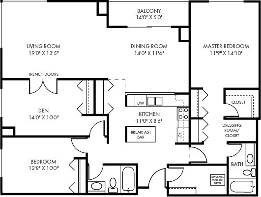 3 Bedrooms 2 Bathrooms Apartment for rent at The Plaza in St Paul, MN