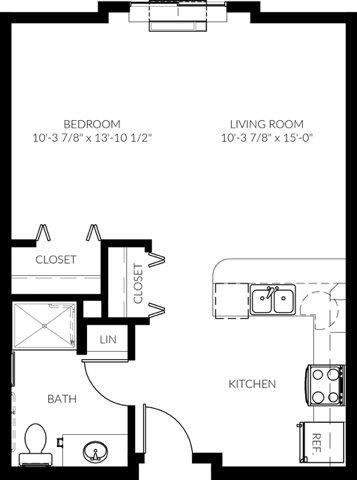 Studio 1 Bathroom Apartment for rent at The Madison Studios in St Paul, MN