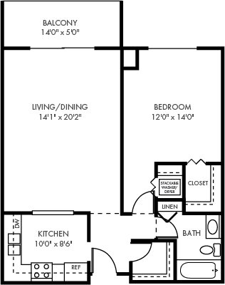 1 Bedroom 1 Bathroom Apartment for rent at The Plaza in St Paul, MN