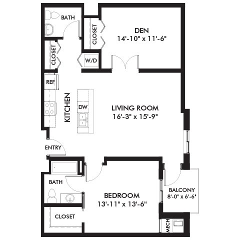 2 Bedrooms 1 Bathroom Apartment for rent at Genesee Apts and Townhomes in Bloomington, MN