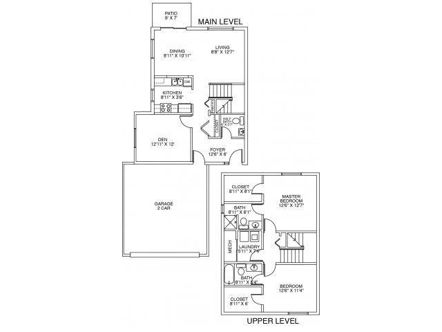 2 Bedrooms 2 Bathrooms Apartment for rent at DeerRidge Townhomes in Minnetonka, MN