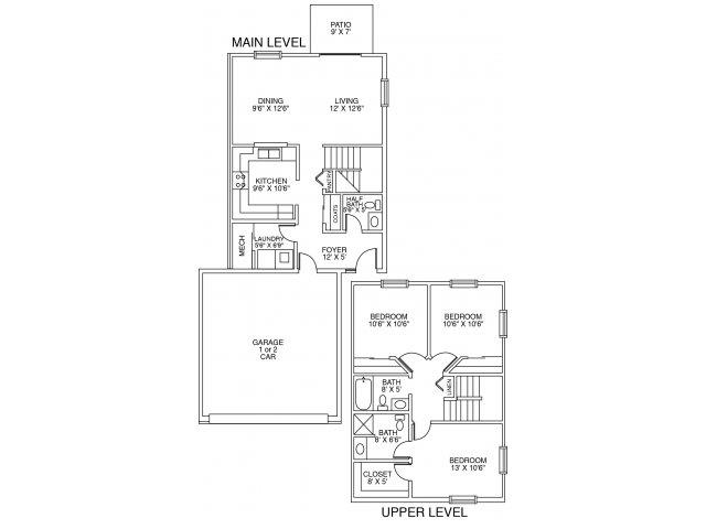 3 Bedrooms 2 Bathrooms Apartment for rent at DeerRidge Townhomes in Minnetonka, MN