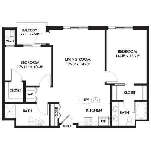2 Bedrooms 2 Bathrooms Apartment for rent at Genesee Apts and Townhomes in Bloomington, MN