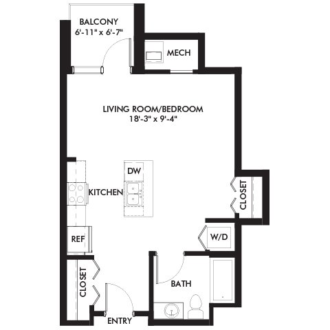 Studio 1 Bathroom Apartment for rent at Genesee Apts and Townhomes in Bloomington, MN