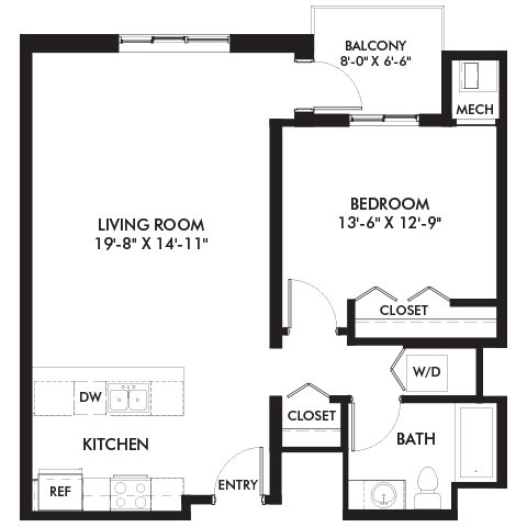 1 Bedroom 1 Bathroom Apartment for rent at Genesee Apts and Townhomes in Bloomington, MN