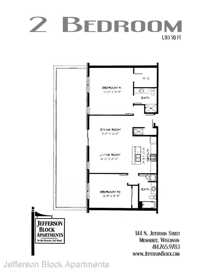 2 Bedrooms 2 Bathrooms Apartment for rent at Jefferson Block Apartments in Milwaukee, WI
