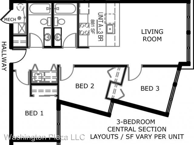 Studio 1 Bathroom Apartment for rent at 525 E Washington in Iowa City, IA