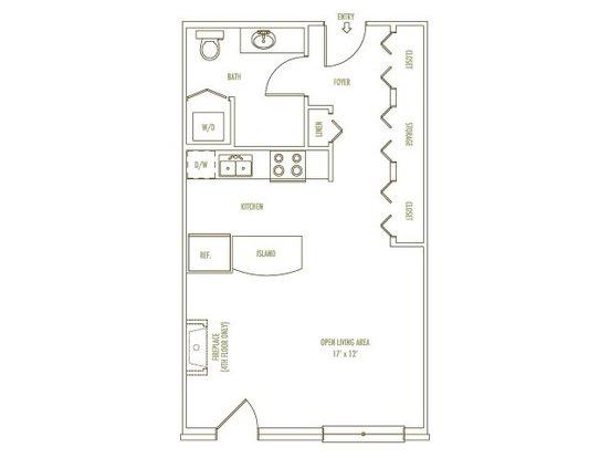 Studio 1 Bathroom Apartment for rent at Loring Park Apartments in Minneapolis, MN