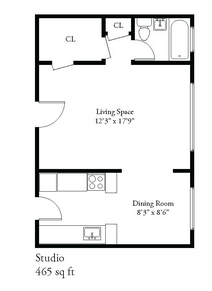 Studio 1 Bathroom Apartment for rent at 2632 N Oakland Ave in Milwaukee, WI