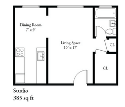 Studio 1 Bathroom Apartment for rent at 1827 E Park Place in Milwaukee, WI