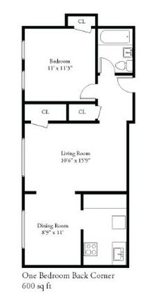1 Bedroom 1 Bathroom Apartment for rent at 1714 E Beverly Pl in Shorewood, WI