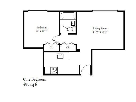 1 Bedroom 1 Bathroom Apartment for rent at 1320 E. Capitol Drive in Shorewood, WI