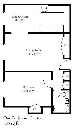 1 Bedroom 1 Bathroom Apartment for rent at 1420 E. Capitol Drive in Shorewood, WI