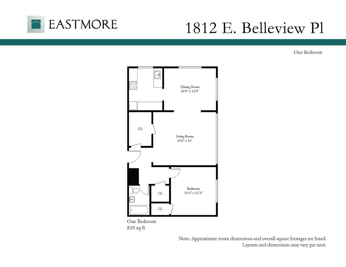 1 Bedroom 1 Bathroom Apartment for rent at 1812 E. Belleview Pl. in Milwaukee, WI