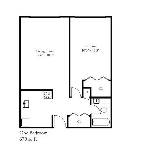 1 Bedroom 1 Bathroom Apartment for rent at 2443 N. Murray Avenue in Milwaukee, WI