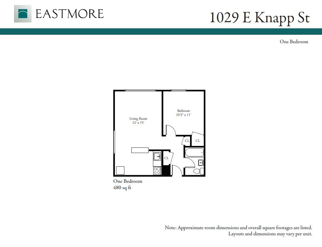 1 Bedroom 1 Bathroom Apartment for rent at Shoreland Manor in Milwaukee, WI