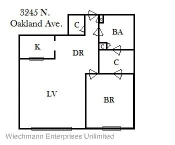 1 Bedroom 1 Bathroom Apartment for rent at 3245 N Oakland in Milwaukee, WI