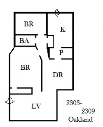 2 Bedrooms 1 Bathroom Apartment for rent at 2303 N Oakland Ave in Milwaukee, WI