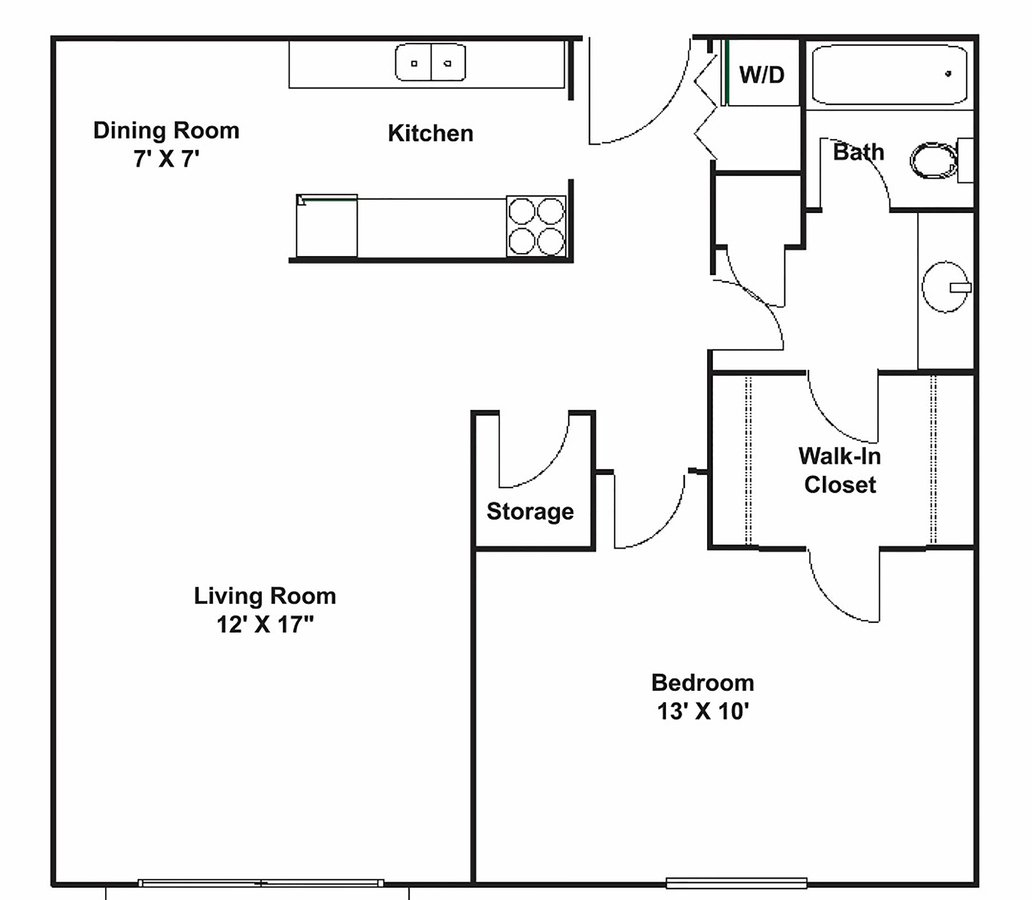 1 Bedroom 1 Bathroom Apartment for rent at The Fountains in the Park  in Brooklyn Park, MN