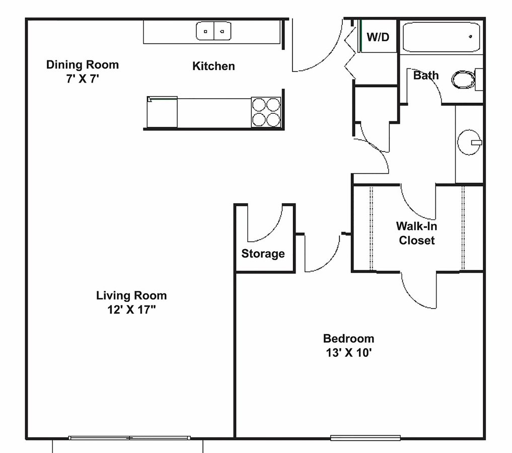 2 Bedrooms 1 Bathroom Apartment for rent at The Fountains in the Park  in Brooklyn Park, MN