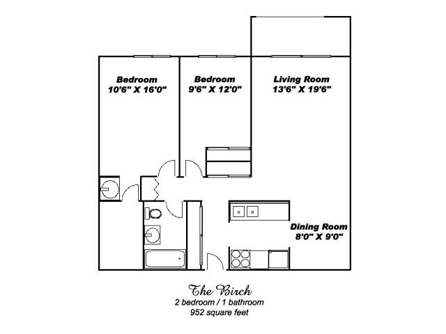2 Bedrooms 1 Bathroom Apartment for rent at Aspenwoods of Eagan in Eagan, MN