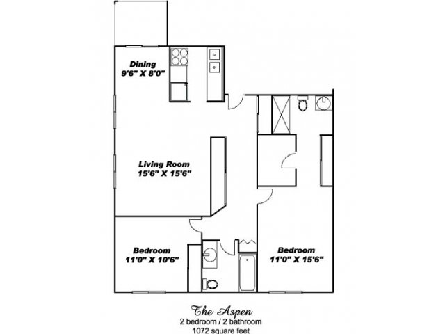 2 Bedrooms 2 Bathrooms Apartment for rent at Aspenwoods of Eagan in Eagan, MN