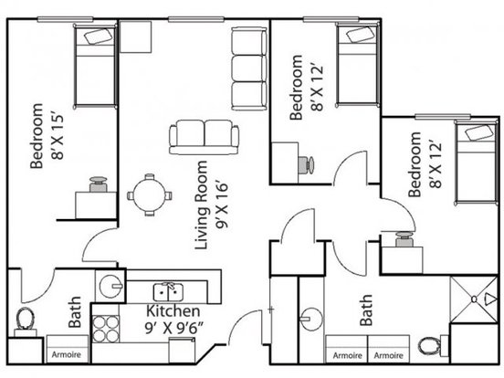 3 Bedrooms 1 Bathroom Apartment for rent at Bierman Place Apartments in Minneapolis, MN