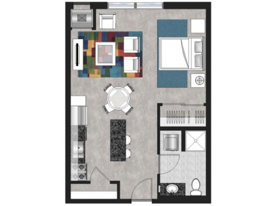 Studio 1 Bathroom Apartment for rent at Brunsfield North Loop in Minneapolis, MN