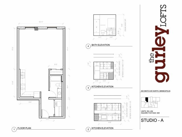 Studio 1 Bathroom Apartment for rent at Gurley Lofts in Minneapolis, MN