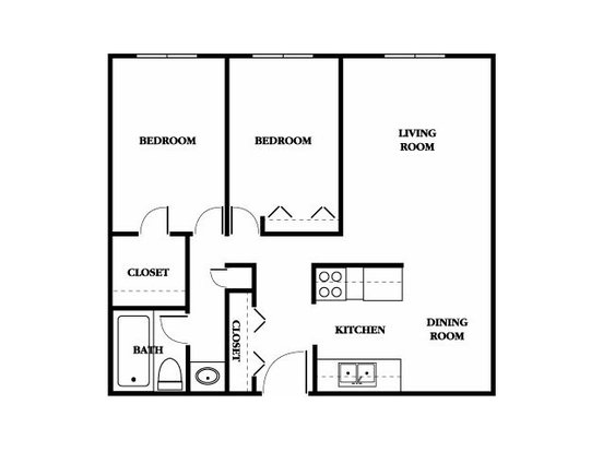2 Bedrooms 1 Bathroom Apartment for rent at Ridgebrook Apartments in Brooklyn Park, MN