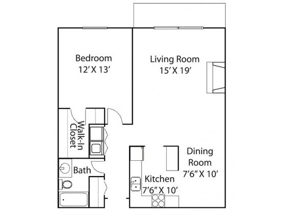 1 Bedroom 1 Bathroom Apartment for rent at Riverview Highlands in St Paul, MN