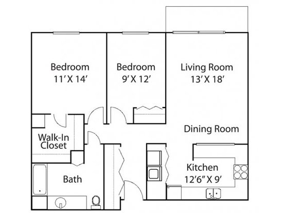 2 Bedrooms 1 Bathroom Apartment for rent at Riverview Highlands in St Paul, MN