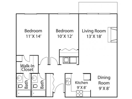 2 Bedrooms 2 Bathrooms Apartment for rent at Riverview Highlands in St Paul, MN