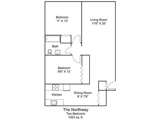 2 Bedrooms 1 Bathroom Apartment for rent at South Highland Apartments in St Paul, MN