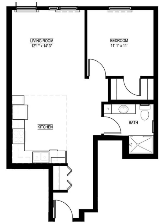 1 Bedroom 1 Bathroom Apartment for rent at Lake Street Station in Minneapolis, MN