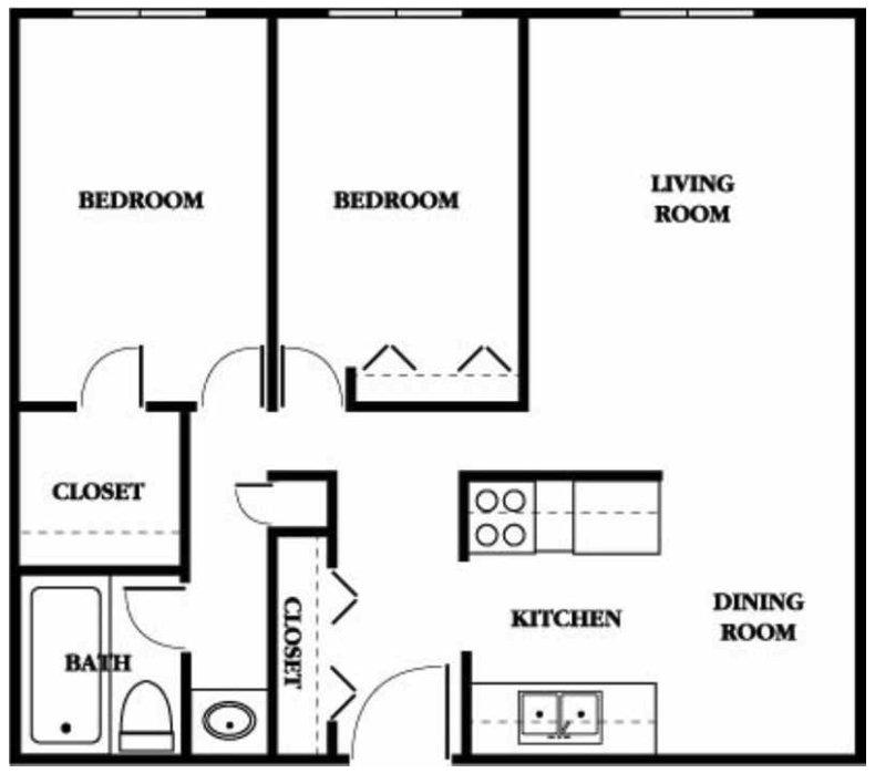 2 Bedrooms 1 Bathroom Apartment for rent at Ridgebrook Apartments in Brooklyn Park, MN
