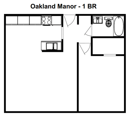 1 Bedroom 1 Bathroom Apartment for rent at Oakland Manor in Milwaukee, WI