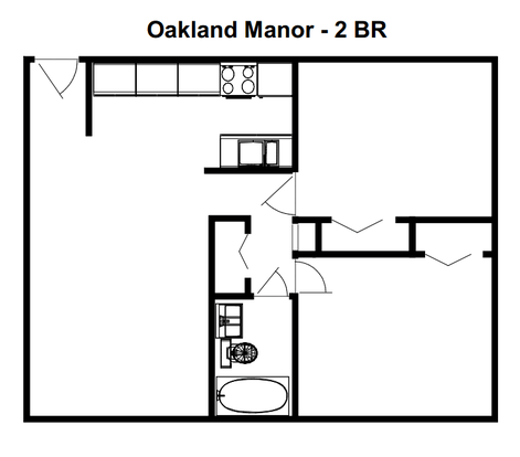 2 Bedrooms 1 Bathroom Apartment for rent at Oakland Manor in Milwaukee, WI