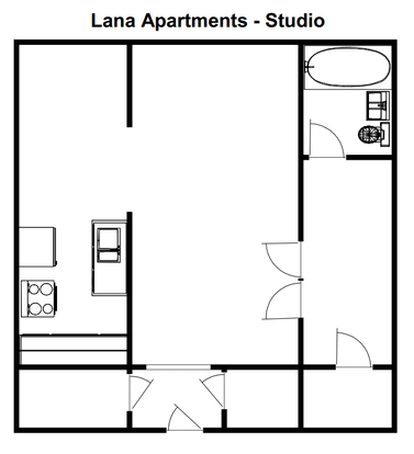 Studio 1 Bathroom Apartment for rent at Lana Apartments in Milwaukee, WI