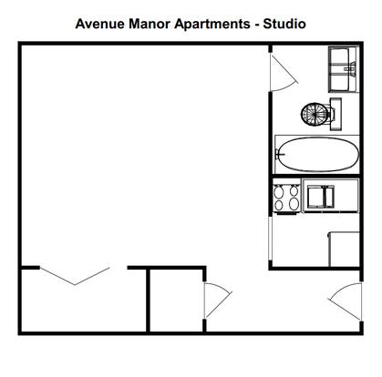 Studio 1 Bathroom Apartment for rent at Avenue Manor Apartments in Milwaukee, WI